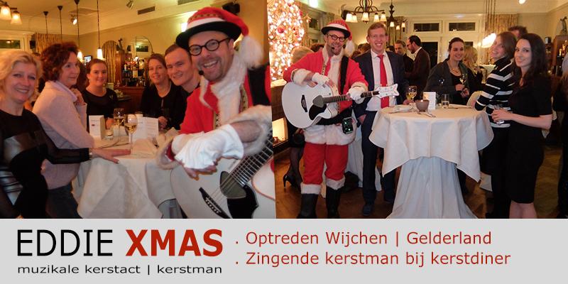Zingende kerstman 2016 | Wijchen Gelderland | Muzikale kerstman inhuren | Eddie Xmas | kerst troubadour boeken | kerst-act christmas