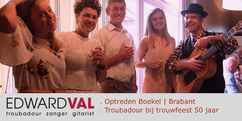 Boekel-Partycentrum-Nia-Domo-Troubadour-zanger-gitarist-Edward-Val-Live-achtergrondmuziek-Gezellige-liedjeszanger-Trouwjubileum-50-jaar
