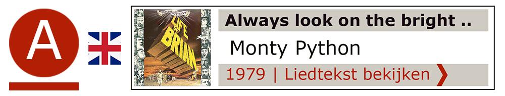 Always look bright side Monty Python | Zanger gitarist troubadour Edward Val boeken | Liedtekst Sing Along | karaoke Feest
