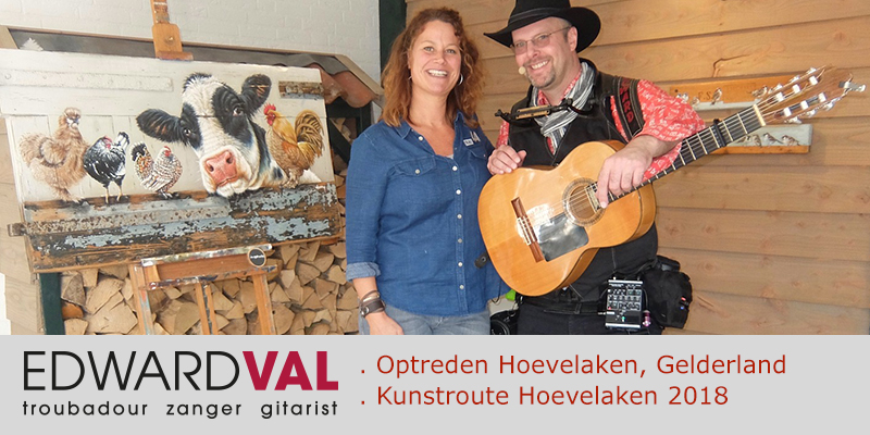 Kunstroute-Hoevelaken-2018-Mobiele-live-muziek-Improvisatie-straattheater-boeken-Troubadour-Edward-Val-Nijkerk-Rondlopende-muzikant-inhuren