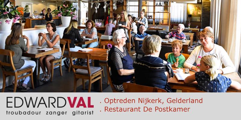 Postkamer-Careander-Nijkerk-Optreden-zanger-gitarist-troubadour-Edward-Val-Zolderverkoop-Mobiele-live-muziek-animatie