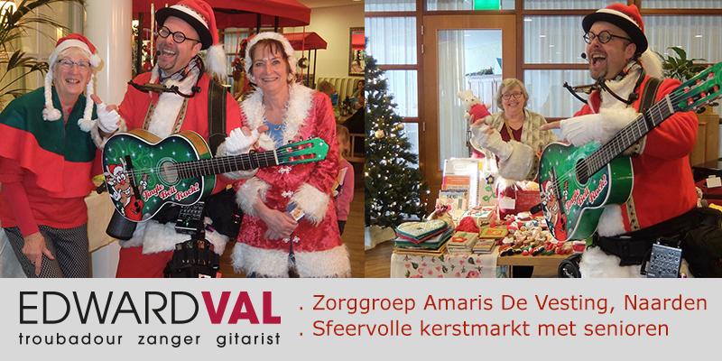 zingende kerstman zorgentertainment zorgsector senioren dementie verstandelijk beperkt Edward Val zang gitaar