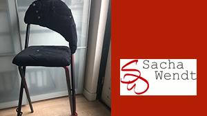 Bevriende relaties Troubadour Edward Val | Atelier Sacha Wendt | Hilversum | Maatwerk Jeans stoel