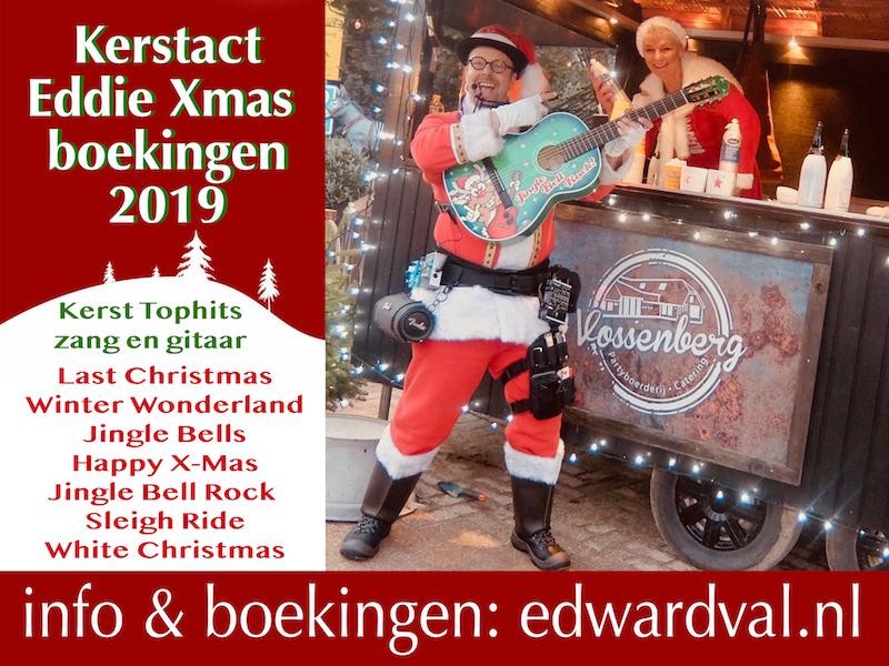 Eddie Xmas 2019-5 troubadour christmas santa Edward Val kerstact mobiele live muziek boeken kerstmarkt kerstborrel gezellige zingende kerstman