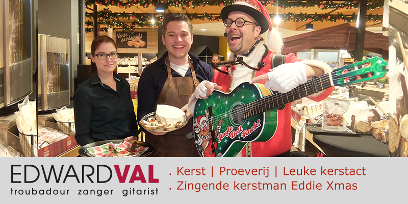 Jumbo Woerden 2 | Nap Polanen supermarkt proeverij kerstact muzikale kerstman edward val eddie xmas kerstmarkt kerstdiner winkelcentrum