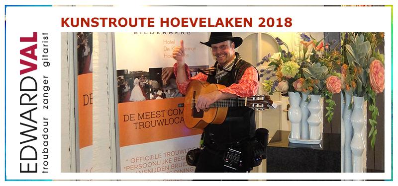 Kunstroute 2018 | Hoevelaken | Mobiele live muziek | Improvisatie straattheater boeken | Troubadour Edward Val Nijkerk | Rondlopende muzikant boeken