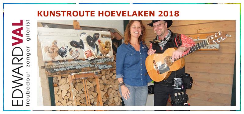 Kunstroute 2018 | Kunstroute Hoevelaken 2018 | Mobiele live muziek | Improvisatie straattheater boeken | Troubadour Edward Val Nijkerk | Rondlopende muzikant inhuren