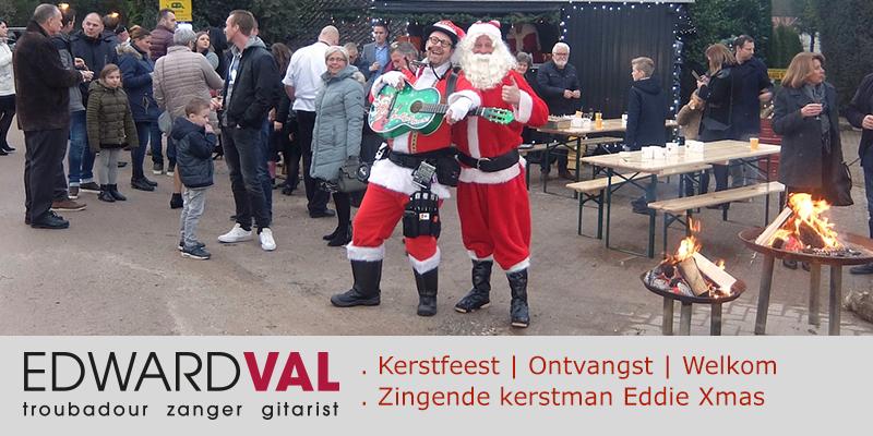 Partyboerderij Vossenberg 2 | Gelderland kerstfeest kampvuur kerstdiner welkom zingende kerstman kerst act zang gitaar edward val eddie xmas