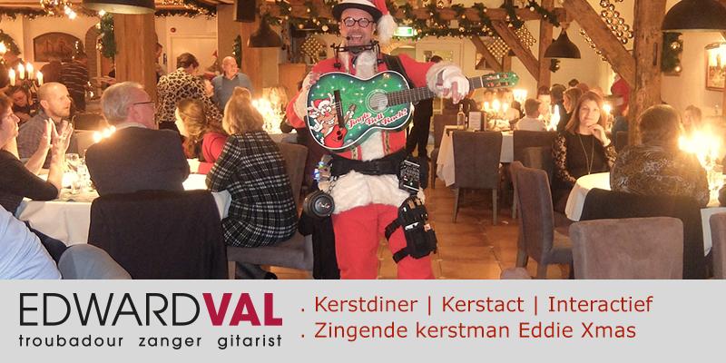 Partyboerderij Vossenberg 3 | Epe kerstfeest kerstdiner kerstdag ontvangst welkom muzikale kerstman kerst act zang gitaar edward val eddie xmas