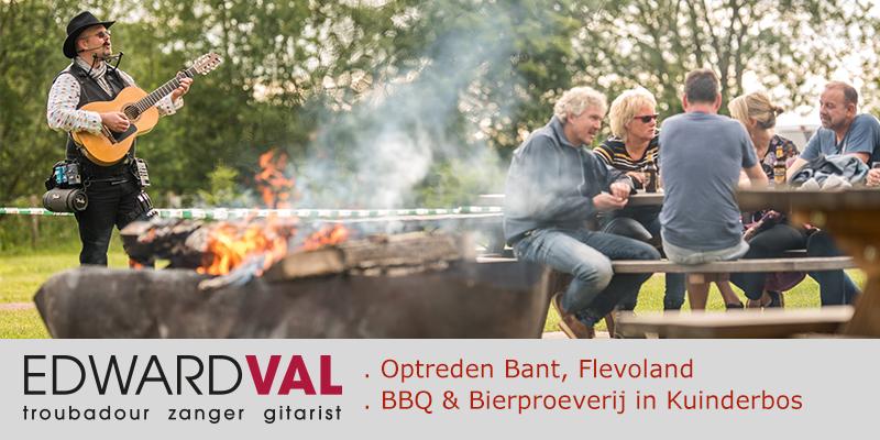 Recreatiepark Eigen Wijze Bant Flevoland BBQ Bierproeverij live muziek mobiel troubadour zang gitaar edward val flevoland fotograaf sjors evers