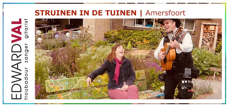 Obade serenade troubadour speciaal liedje op maat struinen amersfoort de plataan tuin optreden zanger nederlandse liedjes dementie