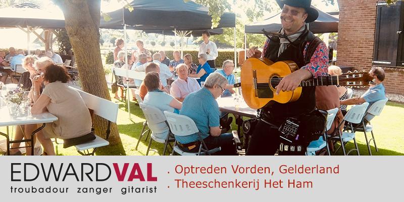 Theeschenkerij Het Ham Vorden Zutphen Gelderland | Live muziek inhuren zanger gitarist Edward Val | Klein muzikaal entertainment