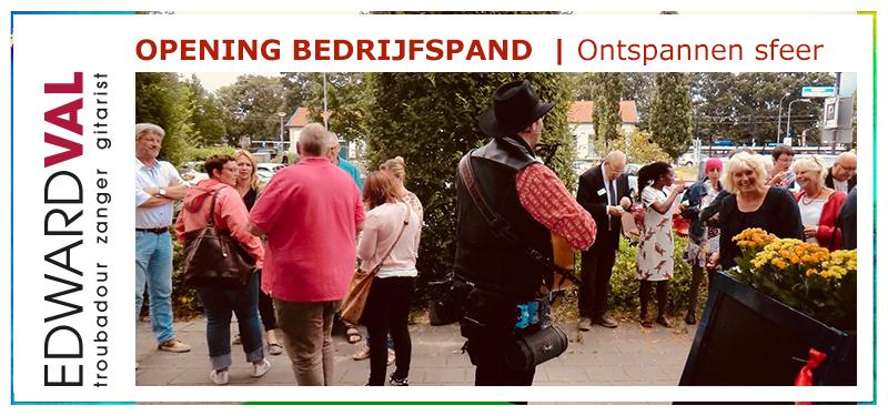 Troubadour zanger gitarist bedrijfsopening event feestelijk ontmoetingshuis mobiel welkom nijkerk ggz centraal edward val | 01b