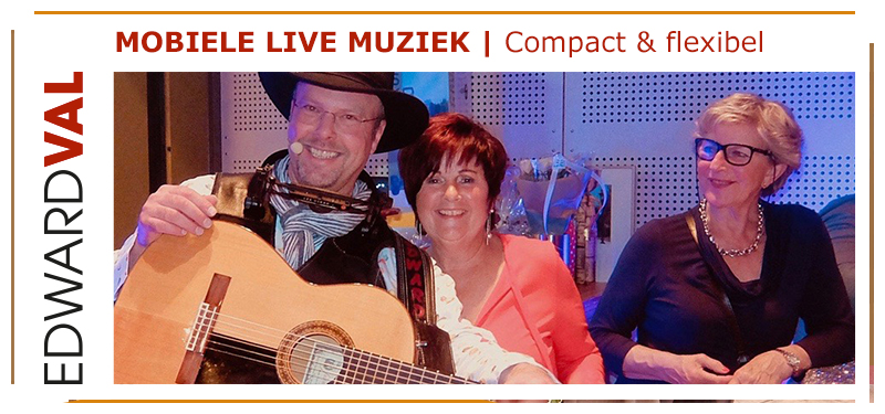 06 Zanger gitarist feest | Live muziek verjaardag Edward Val | Optreden Alblasserdam Zuid Holland Cultureel Centrum Landvast