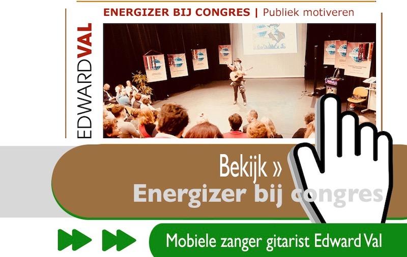 energizer motivator congres conferentie event warming up zaal opewamen wakker schudden edward val