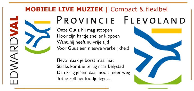 Flevoland hulde liedtekst afscheid collega pensioen in zonnetje bedrijfsuitje speciaal lied