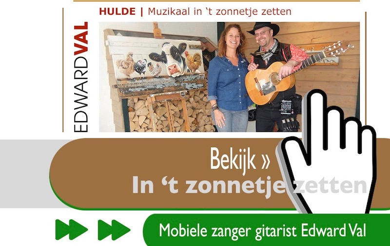 in zonnetje zetten muzikale verrassing troubadour hulde zang gitaar zanger gitarist edward val