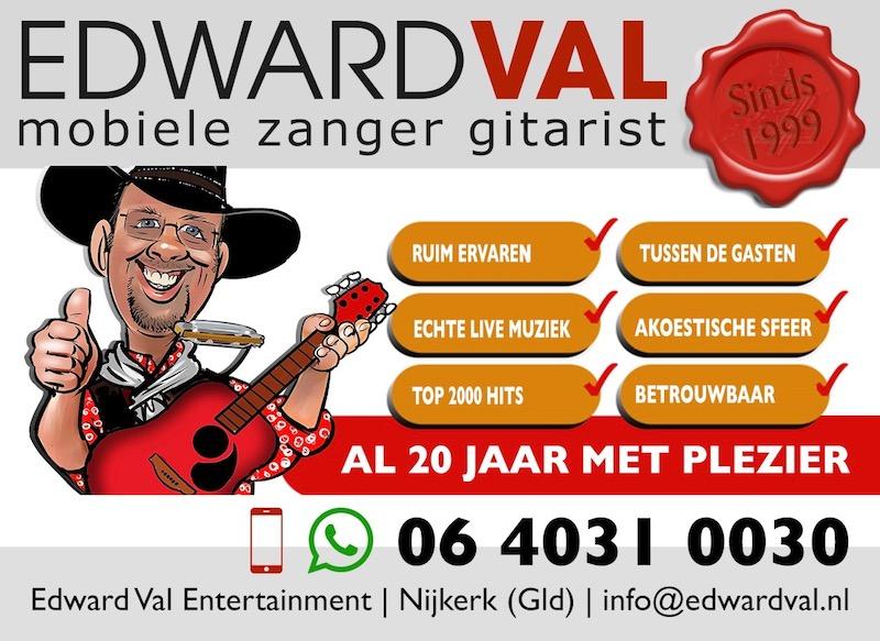 Mobiele zanger gitarist inhuren feest troubadour tips advies referentie edward val toptroubadours edward val nijkerk gelderland bedrijfsuitje