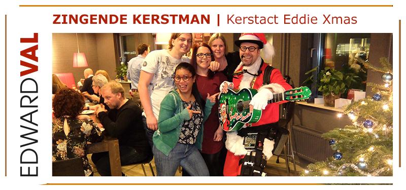 Overijssel utrecht gelderland| Optreden zingende kerstman boeken Bedrijfsfeest kerstborrel