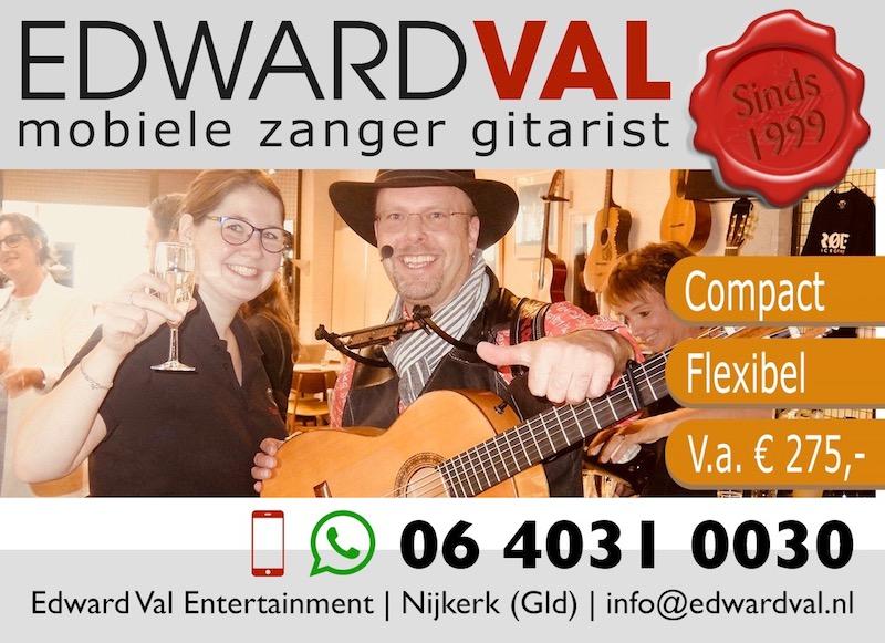 open dag troubadour edward val rondlopende entertainer zang gitaar
