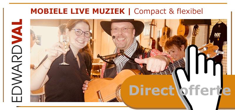 Compact flexibel mobiele geluidsversterking zang gitaar Edward Val Nijkerk Apeldoorn Gelderland Senioren dementie zorgentertainment