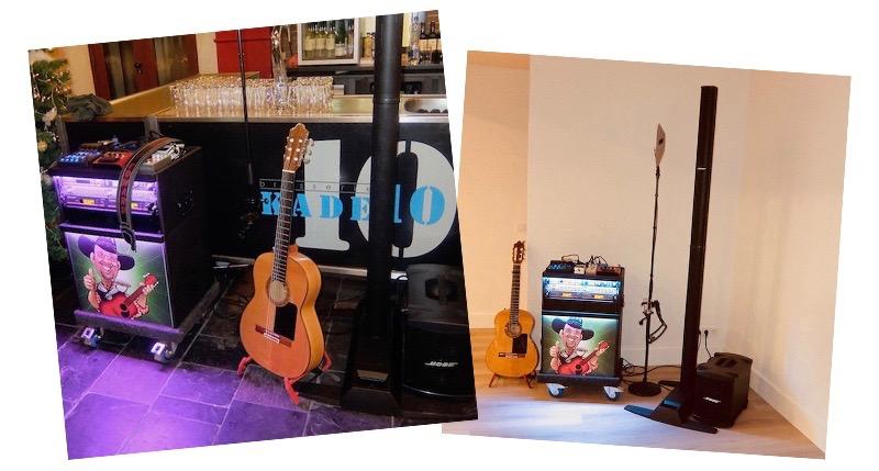 feestavond zanger gitarist bose geluidsapparatuur artiest muzikant inhuren feestelijke avond edward val troubadour nijkerk