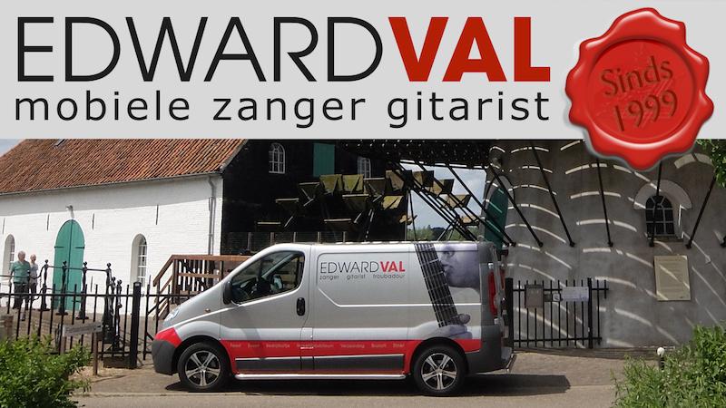 mobiele muzikant artiest troubadour zanger gitarist bedrijfsuitje bedrijfsfeest edward val utrecht gelderland flevoland brabant overijssel
