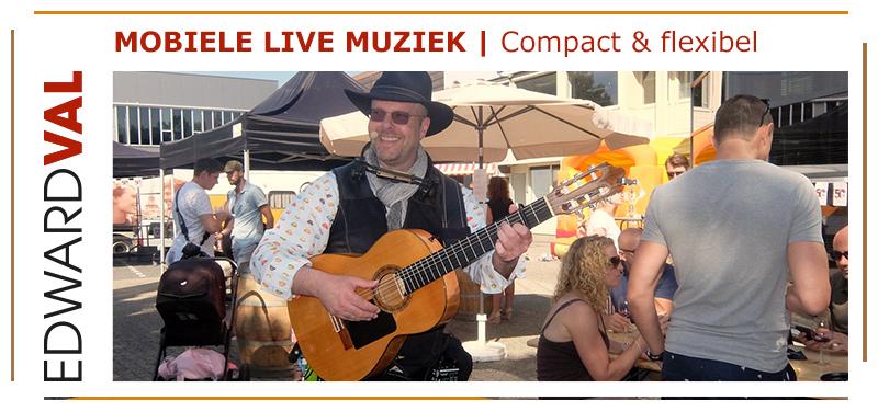 Personeelsfeest-entertainment-inhuren-mobiele-live-muziek-door-troubadour-Edward-Val-bedrijfsborrel-live-achtergrondmuziek