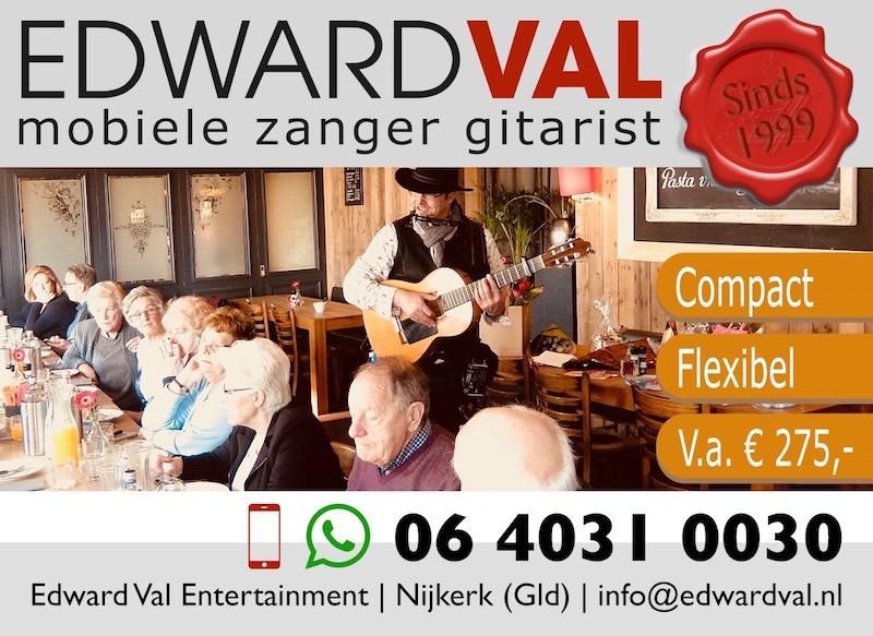 zanger gitarist mobiel optreden zorginstelling verzorgingshuis zorgtainment senioren dementie live optreden oude liedjes nostalgie verjaardag 90 80