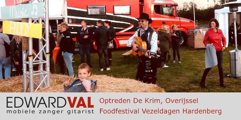 De Krim Hardenberg Vezeldagen Troubadour Edward Val Nijkerk Mobiele live muziek zanger gitarist boeken Overijssel