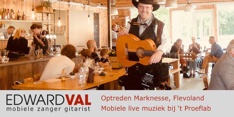 Flevoland | Marknesse Optreden troubadour inhuren proeflab trouwjubileum zanger gitarist Edward Val familie feest boeken