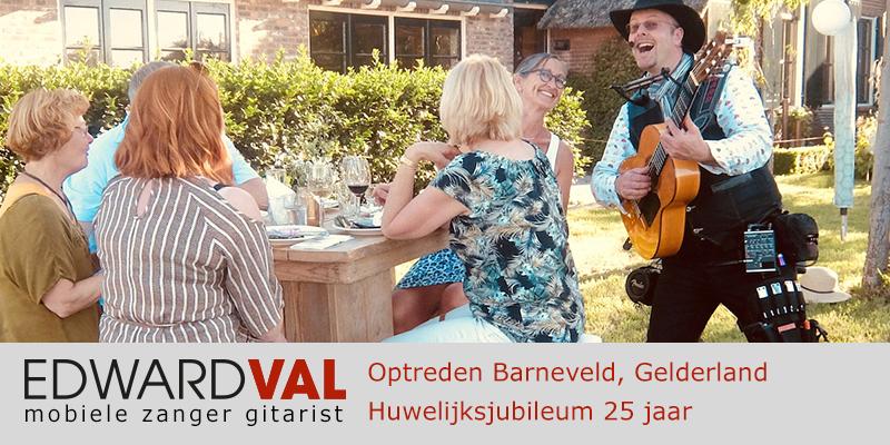 Gelderland | Barneveld ede trouwjubileum Optreden troubadour inhuren bedrijfsuitje zanger gitarist Edward Val familie feest boeken