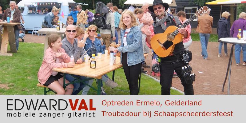 Gelderland | Ermelo Harderwijk Nunspeet trouwjubileum Optreden troubadour inhuren bedrijfsuitje zanger gitarist Edward Val familie feest boeken