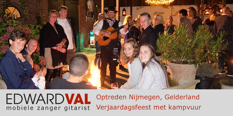 Gelderland | Nijmegen trouwjubileum Optreden troubadour inhuren bedrijfsuitje zanger gitarist Edward Val familie feest boeken