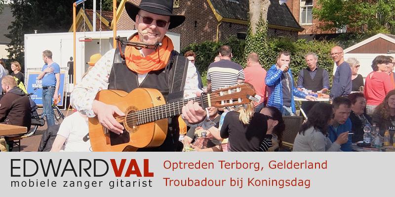 Gelderland | Terborg koningsdag trouwjubileum Optreden inhuren bedrijfsuitje zanger gitarist Edward Val boeken