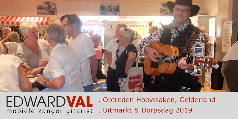 Hoevelaken dorpsdag uitmarkt bieb sigma cultuur braderie markt mobiel entertaiment troubadour edward val Nijkerk