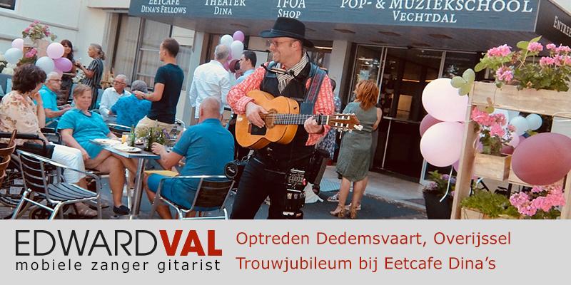 Overijssel | zwolle Dedemsvaart Optreden troubadour inhuren verjaardag zanger gitarist Edward Val boeken