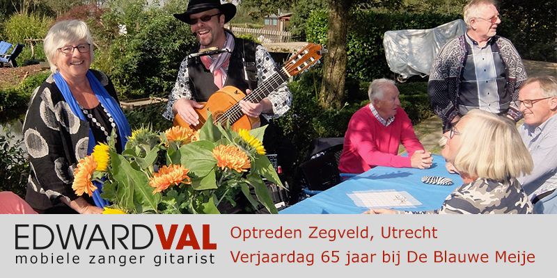 Utrecht | Zegveld Blauwe Meije troubadour inhuren zanger gitarist boeken tuinfeest verjaardag edward val bedrijfsfeest