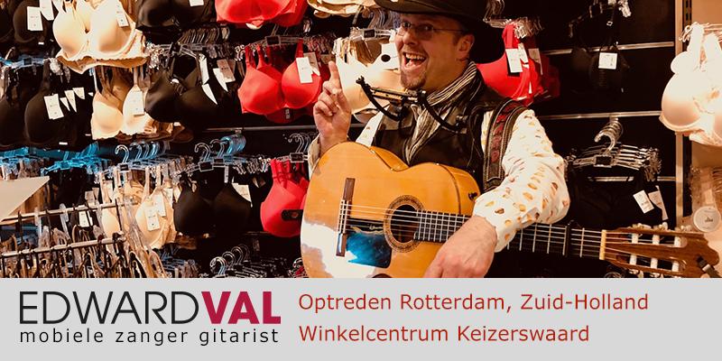 Zuid Holland | Rotterdam Keizerswaard troubadour huwelijksjubileum verjaardag winkelcentrum mobiele zanger live muziek troubadour edward val