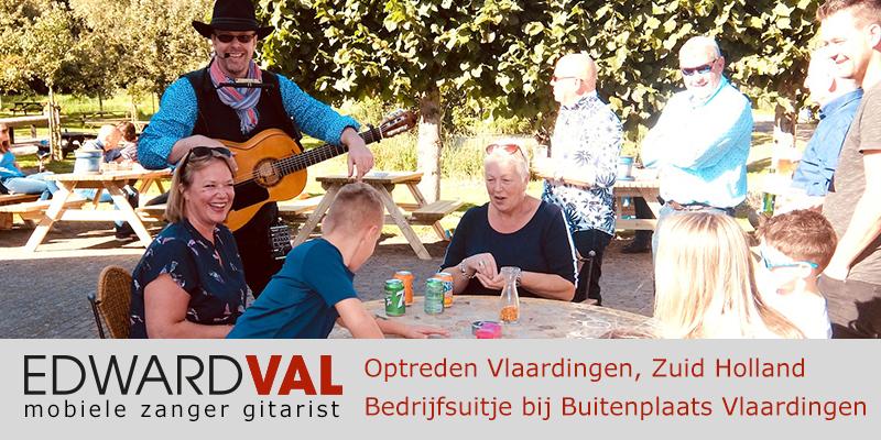 Zuid Holland | Vlaardingen buitenplaats personeelsdag trouwjubileum Optreden troubadour inhuren bedrijfsuitje zanger gitarist Edward Val boeken