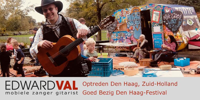 Den Haag goed bezig duurzaamheid food truck familie festival Zuiderpark troubadour edward val mobiele live muziek kids entertainment repair kid