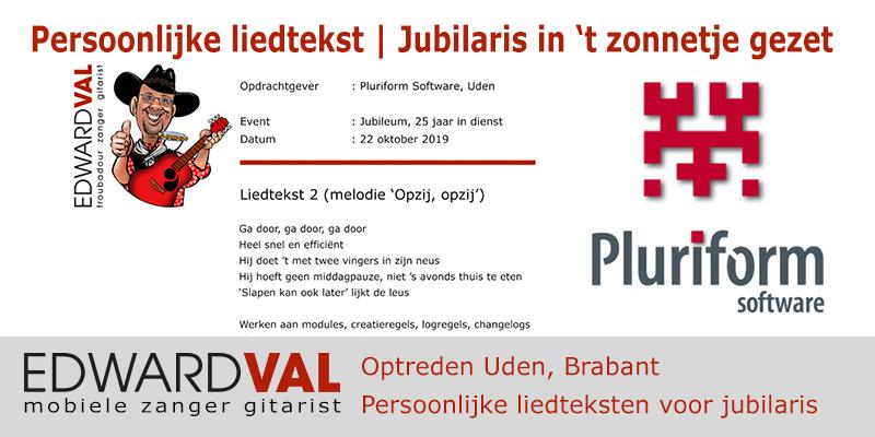 Pluriform Uden Brabant Jubileum Feest Christian | Troubadour Edward Val