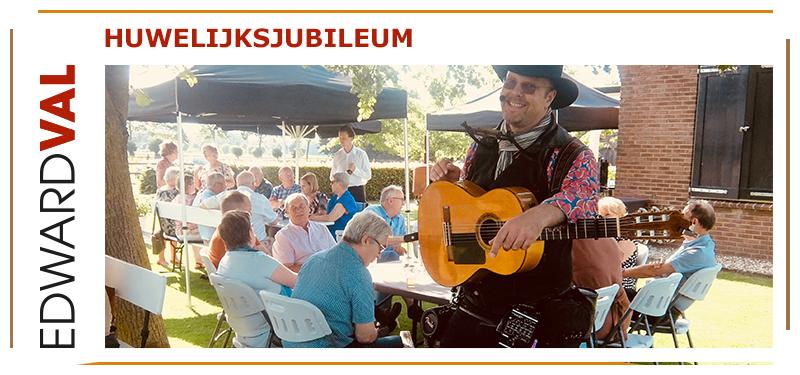 huwelijksjubileum edward val troubadour inhuren easy listening mobiel entertainment ouwe liedjes