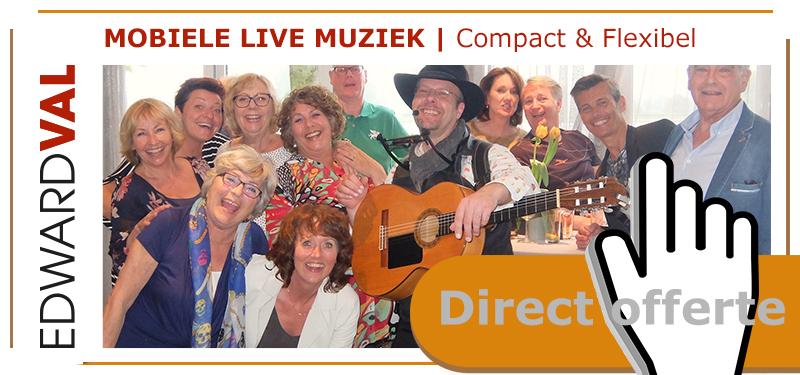 offerte huwelijksdag feest getrouwd 25 40 50 jaar troubadour Edward Val rustig live muziek familiefeest gezellig