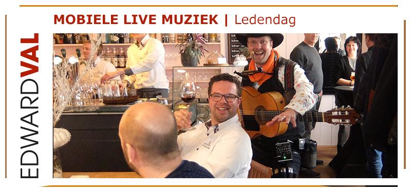 wijnproeverij mobiele live muziek zanger gitarist edward val troubadour inhuren restaurant