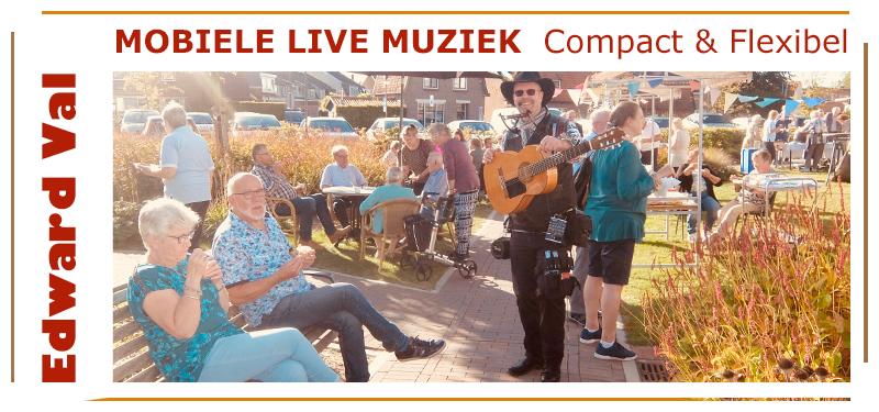 Zorgtainment troubadour optreden in de zorg dementie alzheimer muzikant edward val utrecht gelderland brabant overijssel noord holland