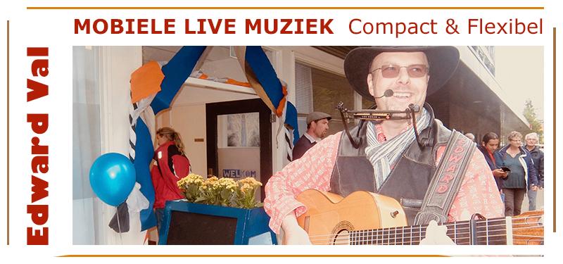 troubadour edward val akoestische sfeer live muziek mobiele muzikant zang gitaar nijkerk utrecht brabant overijssel flevoland gelderland