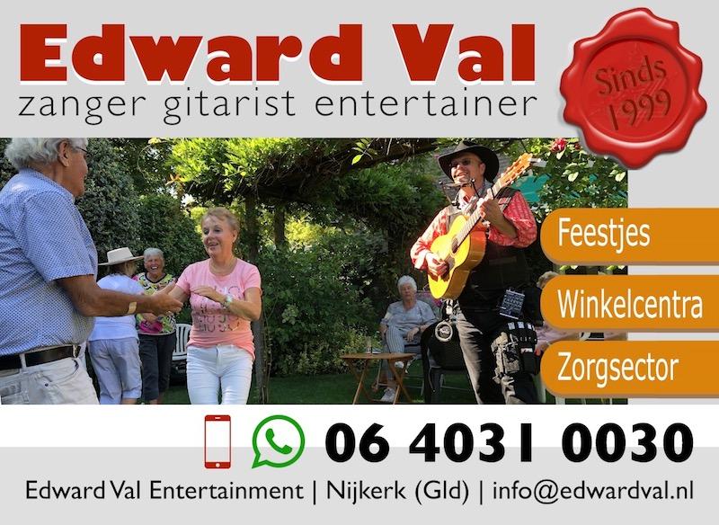 zanger gitarist muzikant edward val zorg mobiel inzetbaar ouderen dementie zorginstelling senioren
